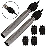 "Zinger Spot Weld Cutter, 2 Pack of 3/8"" Rotary Spot Weld Cutter Remover Drill Bits Tool+ 4 Double Sided Replacement Blades"