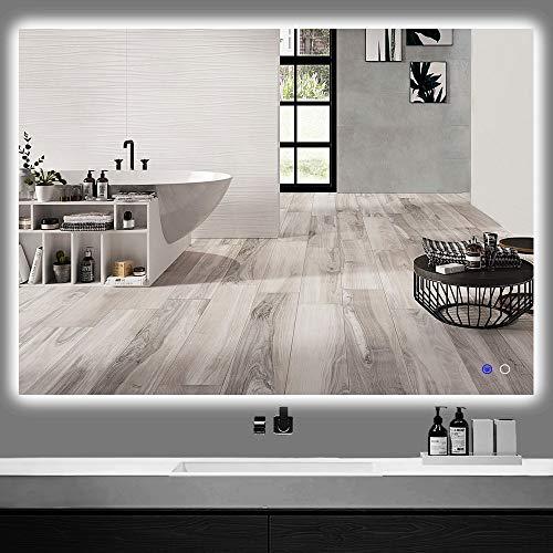 "Keonjinn 48"" x 36"" LED Backlit Mirror Bathroom Vanity Mirror Anti-Fog Wall -"