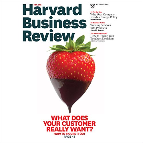 Harvard Business Review, September 2016 (English) Titelbild