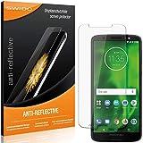 SWIDO Schutzfolie für Motorola Moto G6 Plus [2 Stück] Anti-Reflex MATT Entspiegelnd, Hoher Festigkeitgrad, Schutz vor Kratzer/Folie, Bildschirmschutz, Bildschirmschutzfolie, Panzerglas-Folie