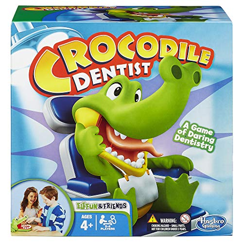Hasbro B0408 Elefun & Friends Krokodil-Zahnarztspiel, Mehrfarbig