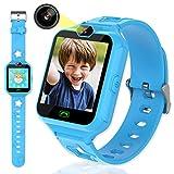 Smartwatch per bambini con schermo touch HD da 1,54', Smart Watch per bambini con 6 giochi lettore musicale a 2 vie chiamate, sveglia per 3 – 12 anni giocattolo regalo di compleanno