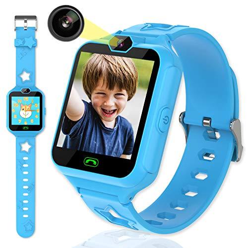 Kinder Smart Watch für Mädchen Jungen-Kinder Smartwatch Telefon mit 7 Spielen Musik MP3-Player SOS Anruf Kamera Rechner Elektronisches Lernspielzeug Geburtstagsgeschenke für 3-12