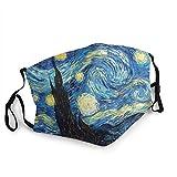 Van Gogh Starry Art Impressionism Breathable Face Masks Van...