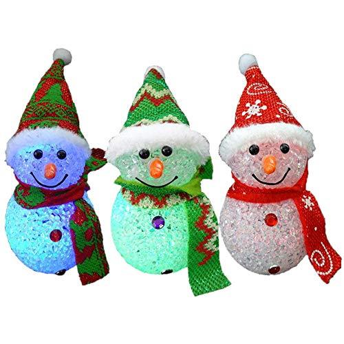 スノーマン LEDイルミネーション クリスマス 雪だるま3個組