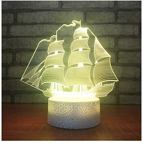 Changement de couleur 3D Lampe Cadeaux Créatifs Chevet Décoratif 3D Veilleuse De Noël Décorations De Noël Cadeau Pour Bébé Pour Enfants Cadeau