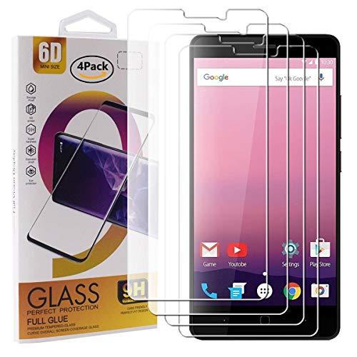 Guran 4 Pezzi Pellicola Protettiva in Vetro Temperato per Vernee Thor E Smartphone 9H Durezza Anti-Impronte HD Alta Trasparenza Pellicola