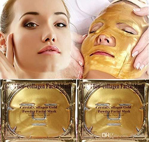 10un Máscara De Ouro Facial 24k Anti Envelhecimento Colágeno