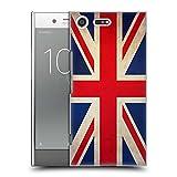 Head Case Designs Británicos De Gran Bretaña Banderas Vintage Carcasa rígida Compatible con Sony Xperia XZ Premium