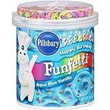 Pillsbury Vanilla Frosting, Funfetti Aqua Blue (Pack of 2)