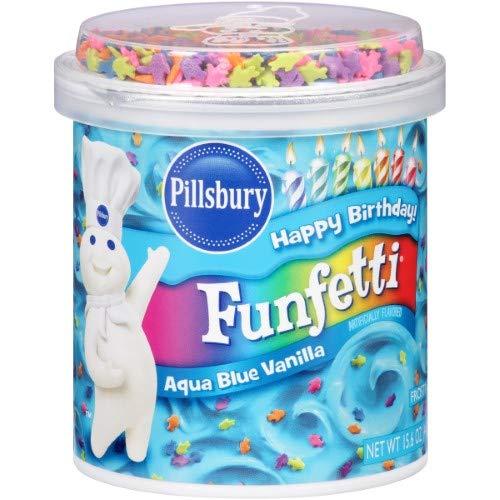 Pillsbury Vanilla Frosting, Funfetti Aqua Blue