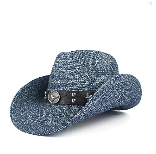 Dames Elegante Populaire Cowboy Hoeden Straw Western Cowboy Hoeden Voor Vrouwen Mannen Met Roll Up Brim Lady Gentleman Cowgirl Sombrero Hombre Zomer Strand Vakantie Sun Cap Heren Mode Hot Koop Cowgirl Caps