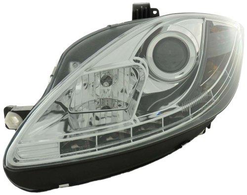 FK Automotive Phares Daylight Set voor Seat Leon 1P année 09- chroom [Mechanisch]