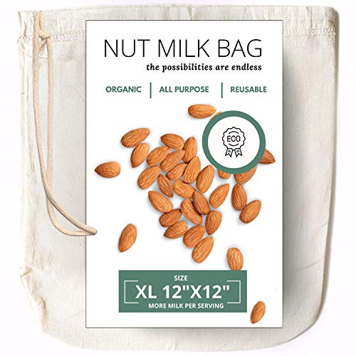 """Nut Milk Bag  Certified Organic Cotton 