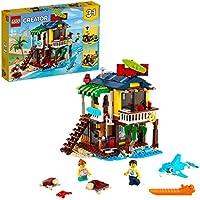 LEGO Creator 3 in 1 Surfer Beach House, Faro e Casa con Piscina, Costruzioni per Bambini, 31118
