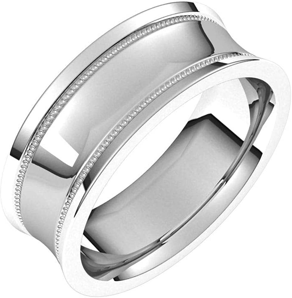 Tarnish Be super welcome Resistant Solid 925 Sterling Milgrain 7mm Silver Concave Recommended