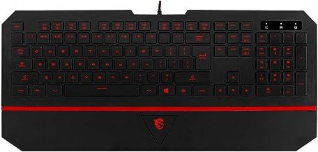 MSI Interceptor DS4100 Gaming Keyboard, Black, KB-MSI-DS4100