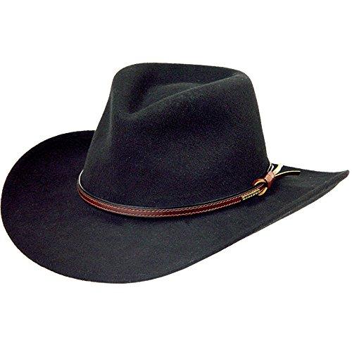 Stetson Men's Bozeman Wool Felt Crushable Cowboy Hat Black X-Small