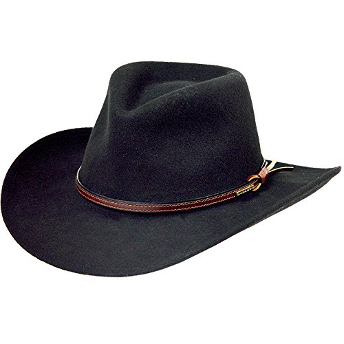 Stetson Men's Bozeman Wool Felt Crushable Cowboy Hat Black XX-Large