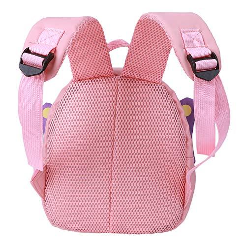 Asixxsix Mochila para bocadillos, Conveniente y fácil de Viajar, Bolsa Preescolar, para niñas y niños(Pink)
