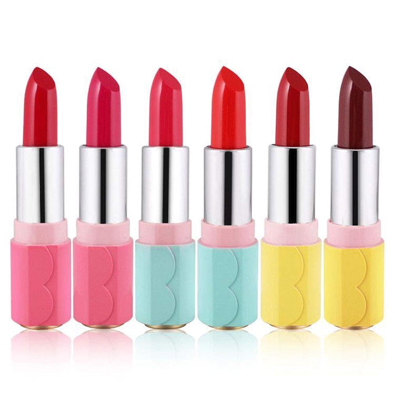 台風劣る金銭的な1ピース6色口紅用女の子女性防水長持ち保湿化粧口紅 (1)