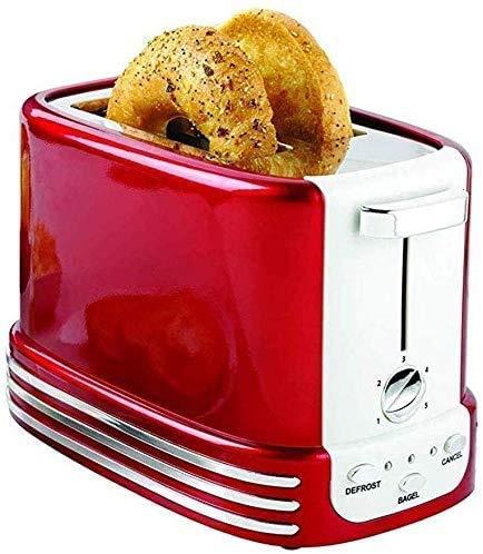 Panificadora Automática Electrodomésticos Tostadora con Calefacción Uniforme, Se Puede Hornear Rápidamente Tostadora Máquina De Desayuno Casera De Acero Inoxidable Ensanchado con Molde para Bandeja D
