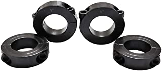 Double Split Shaft Collar Bore 1/4 Inch Black Oxide Set Style Two-Piece Clamping 4pcs