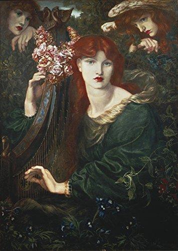 Rossetti Dante Gabriel (1828-1882) La Ghirlandata 1873 Pre-Raphaelite Art Oil On Canvas United Kingdom London Guildhall Art Gallery ? AisaEverett Collection Poster Print (18 x 24)