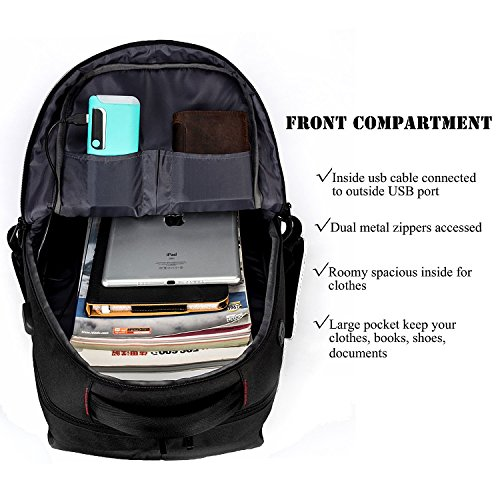 DTBG Water Resistant Laptop Backpack With USB Charging Port Fit For Under 17.3 Inches Laptop / Notebook / Tablet Multi-functional Rucksack