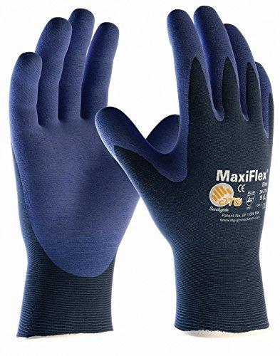 10er Pack MaxiFlex Elite Arbeitshandschuhe, Montagehandschuhe von DBI Trading, Größe:9 (L)