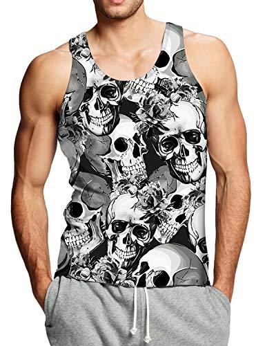 Goodstoworld Camiseta sin Mangas para Hombre 3D Impreso Tank Top Sport Chaleco Gym Camisetas de Tirantes S-XXL