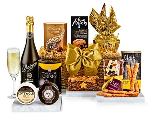 Bentley Hamper With Prosecco - Hand Wrapped Gourmet Food Basket, in Gift Hamper Box