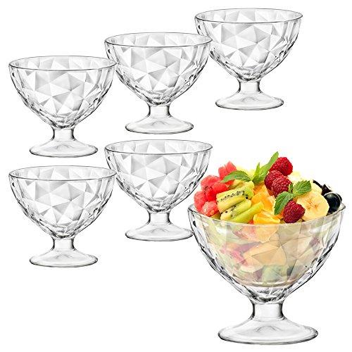 Verres à cocktail, dessert, crème glacée, Bormioli Rocco, lot de 6., Diamond Design