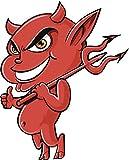 Evil Demonic Red Devil Baby Giving A Thumbs Up Cartoon Truck Car Bumper Sticker Vinyl Decal 5'