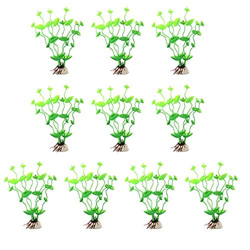 CHOUREN Plantas acuáticas artificiales - Plantas de acuario grandes de plástico decoraciones de pecera - Plantas de simulación vívido paisaje de acuario - Decoración del hogar Plástico