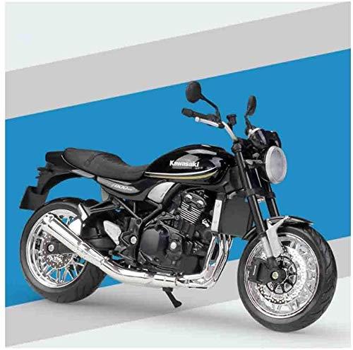 WASHULI Modelo de Auto de fundición Motocicleta Modelo Modelo Modelo Kawasaki Z900RS 1/12 Escala de colección de Autos de aleación (Color : Black)