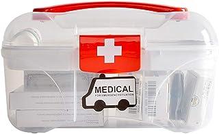 Household Medicine Box Medicine Storage Box Children Mini Medicine Box Portable Mobile Medicine Box LWWOZL (Color : Clear, Size : 21.5cm×12.5cm×13.5cm)