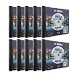 10 Pack Ritek BD-RE XL Rewritable BDXL 100GB Triple Layers 2X White Inkjet Hub...