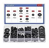 XTVTX 180 pz Gommino in gomma per fori per firewall in gomma passacavi Set anelli guarnizioni conduttori elettrici neri per spina e cavo Apparecchio elettrico