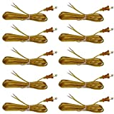 Creative Hobbies Gold Lamp Cord, 12 Foot Long, Replacement Lamp Cord Lamp Repair Part, 18/2 SPT-1 Wire, UL Listed (10)