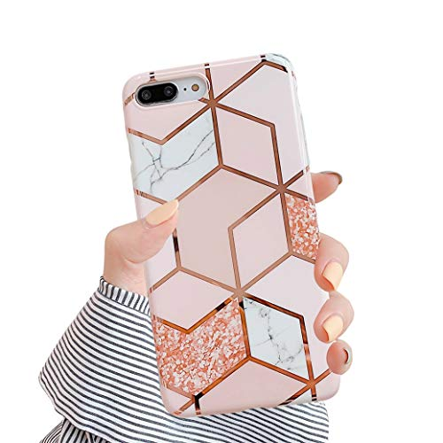 Hishiny Compatible avec Coque iPhone 7Plus 8 Plus, iPhone 7 Plus Avancé Silicone TPU Souple Housse Étui Full Protection Shell Anti-égratignures Coque Ultra Mince Anti-Scrach Bumper, A4, 7 Plus