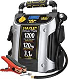 STANLEY J5C09D Digital Portable Power Station Jump Starter: 1200 Peak/600 Instant Amps, 120 PSI Air Compressor, 3.1A USB Ports, Battery Clamps
