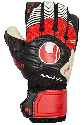 uhlsport Handschuhe ELIMINATOR ABSOLUTGRIP, schwarz/Rot/Weiß, 10.5