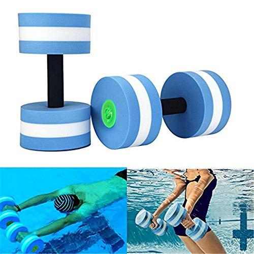 gfeu Wasser Aerobic-Training Schaum Hanteln, Wasser Fitness Übungen Equipment für Aqua Gewicht Verlust blau, 2 PCS