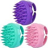 3 Packs Hair Scalp Massager Shampoo Brush Silicone Head Washer Brush Handheld Shower Scalp Scrubber Cleansing Brush for Removing Dandruff