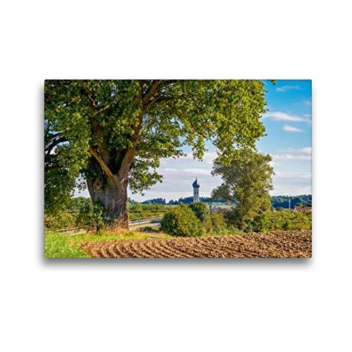 CALVENDO Premium Textil-Leinwand 45 x 30 cm Quer-Format Blick auf St- Florian in Wiedenzhausen, Leinwanddruck von Jürgen Klust