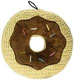 TrustyPup Chocolate Donut Durable Plush Dog Toy, Tan, Large
