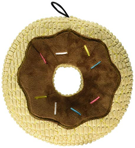 TrustyPup Chocolate Donut Dog Toy with Silent Squeaker