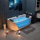 Tronitechnik - Bañera de hidromasaje (180 x 88 cm, con calefacción, cascada, hidromasaje y terapia de luz de color)