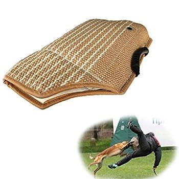 Manchon de protection contre les morsures de chien, avec poignée pour l'exercice de dressage de chien pour renforcer la mastication et le jeu en plein air protège le bras de la morsure